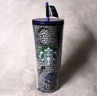 Starbucks 2020 Halloween Glow In The Dark Skull Venti Cold Cup Tumbler