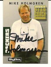 Mike Holmgren Signed Autographed 1992 SkyBox Card Packers Seahawks