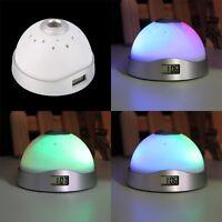 Alarm Clock Digital LED Star Colorful Magic Flash Light Time Projection SY