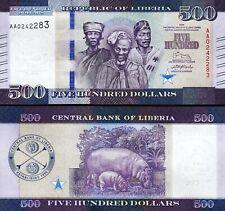 Liberia 500 Dollars 2016, UNC, 10 Pcs LOT, Consecutive,P-35,New Design,Prefix AA