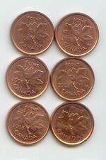 Canada 2004 2005 2006 2007 2008 + 2009 One Cent Canadian Pennies Penny 1c SET