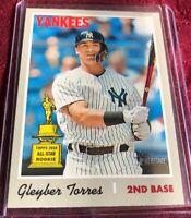 Gleyber Torres 2019 Topps Heritage SP Card #413, New York Yankees