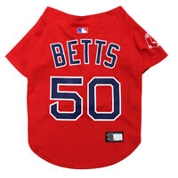MOOKIE BETTS #50 Boston Red Sox MLBPA Officially Licensed Red Dog Jersey