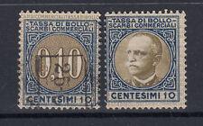 1931 VITTORIO EMANUELE III MARCHE DA BOLLO LUSSO E SCAMBI 10 CENT. ANNULLATA