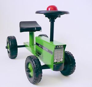 Green Kids Ride On Tractor