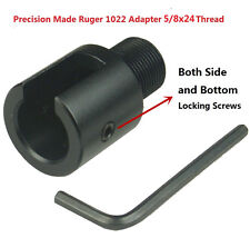 "Ruger10/22 1022 5/8""x24TPI AL Adapter and 308 Birdcage Muzzle Brake Combo"
