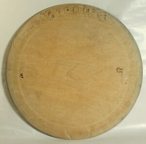 ANTIQUE BREAD BOARD SYCAMORE GOTHIC CARVED BEAD straight flat useable c1910