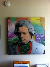 "Steve Kaufman ""Beethoven State II (Silver)"" Serigraph Warhol Protege"