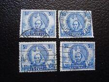 AUSTRALIE - timbre yvert et tellier n° 153 x4 obl (A03) stamp australia
