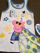 PEPPA PIG Singlet Brief Set - Size 4/6 New