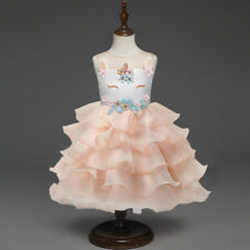 Girl Kid Fairy Fancy Tutu Dress Skirt Dress Up Unicorn Cosplay Top Party Costume