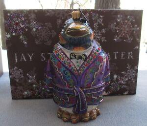 Jay Strongwater Ornament Bejeweled Jubilee Penguin Swarovski Elements New in Box
