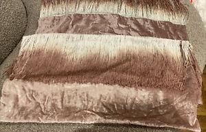 """West Elm Lush Velvet Tassel Fringe Pillow Cover NEW 14"""" X 26"""" Pink Ombre 2 Avail"""