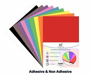 A4 Craft Foam Sheets EVA Foam Self Adhesive Non / Sticky Foam Sticker Paper