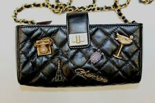 CHANEL Quilted Lucky Charms Mini Phone Holder Clutch Cross Body Shoulder Bag