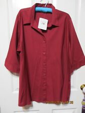 Ladies NEW Stylecorp Marone Short Sleeved Shirt size 24
