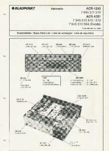 Blaupunkt Retro Car Audio Radio Cassette CD Player Service Repair Parts Manuals