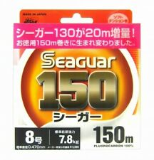 Kureha Seaguar 150 7.8kg 150m 8 Clear 0.470mm Fluorocarbon Leader 220874