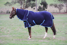 Unicorn Anti Piling Polar Fleece Combo Horse Rug Navy Blue
