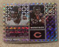 2020 Mosaic Football Khalil Mack Montage Silver Prizm Bears