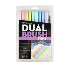 Tombow Dual Brush Pen Art Markers 10-Pack, Pastel
