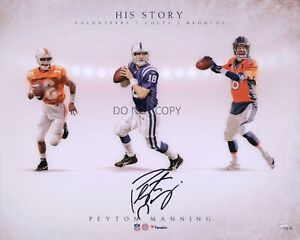 Peyton Manning Autographed Signed 8x10 Photo HOF Tennessee Broncos Colts REPRINT