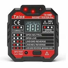 NEW Advanced With voltage display GFCI Outlet Tester 48-250V Power Socket Aut...