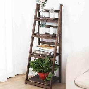 4 Tier Flower Plant Pot Shelf Display Ladder Garden Rack Step Style Wood  UK