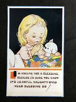 Vintage Postcard: Artist Signed: Mabel Lucy Attwell #A685: A Blessing No 5501
