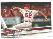 Luke Weaver St. Louis Cardinals 2017 Topps Baseball Rookie Card