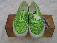 Vans Authentic X Supreme F*cking Awesome FA Repeat Neon Green Size 10.5 Sneakers
