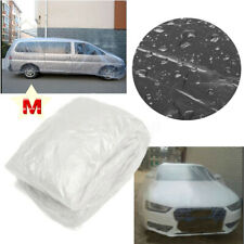 Universal Clear Plastic Temporary Disposable Car Cover Rain Dust Snow Protect M