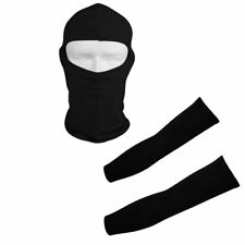 Protection Set Arm Cooler Cooling Sleeves + Bicycle Motorcycle Full Face Mask