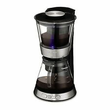 Cuisinart Automatic Cold Brew Coffeemaker Glass Carafe Light Indicator Silver