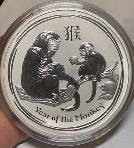 2016 Australia 1 kilo .999 Silver Lunar Monkey BU in capsule