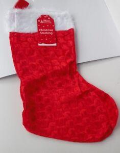 Large Christmas 40cm Children's Velvet STOCKING with Plush Top
