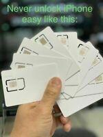 Unlock SIM Card For iPhone 12 11 Pro XS MAX XR XS X 8+ 8 7+ 7 6S+ 6S IOS14.4.1
