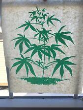 Vintage Weed Pot Marijuana Plant Iron On Transfer