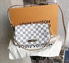 **LOUIS VUITTON FAVORITE PM DAMIER AZUR CROSSBODY CHAIN BAG NEW w/BOX Authentic