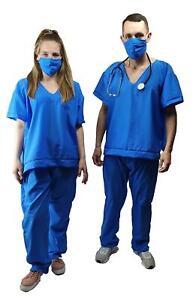 Adults Authentic Doctors Nurses Surgeons Scrubs Fancy Dress Costume [One Size]