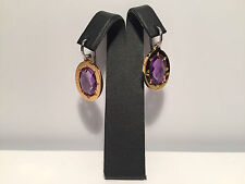 New - EarRings EarRings - Steel & Amethyst - Steel and Amethyst