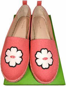 Kate Spade New York Gavyn Peony Canvas Espadrilles Sneakers Sz 8.5 Pink Flats