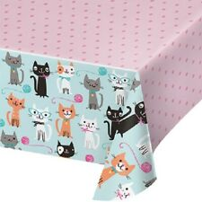 Purr-Fect Cute Kitty Cat Kitten Birthday Party Supplie Plastic Tablecover