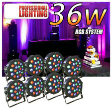 8PCS 36W 18 LED RGB PAR CAN DJ Stage DMX Lighting Disco Party Wedding Uplighting