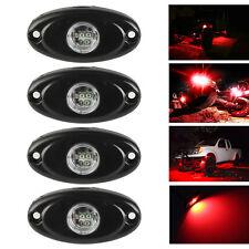 4x 9W CREE LED Rock Light Trail Rig Decorative Underbody Driving Fog Side Lamp