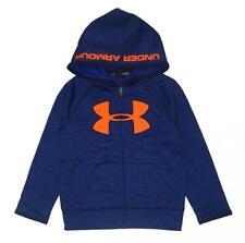 Under Armour Boys Blue & Orange Big Logo Hoodie Size 5