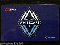 2014 MLS Vancouver Whitecaps FC FD42336 Tim Hortons gift card 1st  MLS Issue 334