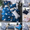4PC LUXURY SUPER SOFT DUVET COVER SET FOR COMFORTER BED FLORAL PATTERN COVERLET