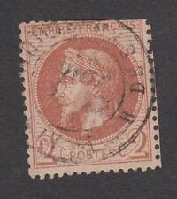 France -Timbres oblitérés - N° 26A - 2c rouge brun - 1862