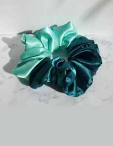 Silk/satine Scrunchie Elastic Handmade Multicolor Hair Band Ponytai all ocations
